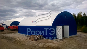 Hangar 24x16x9 m., For storage and repair of vehicles.