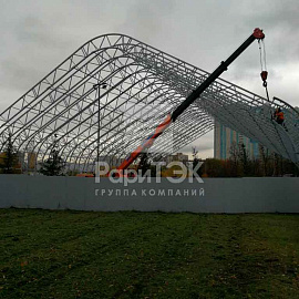 Football arena 43x66x18 m., St. Petersburg.